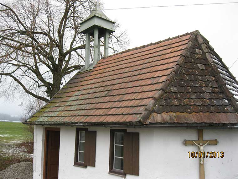 Sanierungsarbeiten einer Kapelle – vorher/nachher