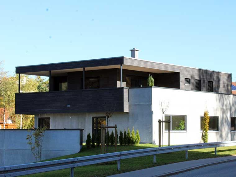 Holzhausbau vom Merz Meisterbetrieb